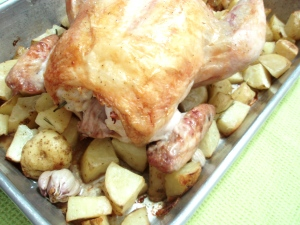 Roasted Chicken with Kennebec Potatoes